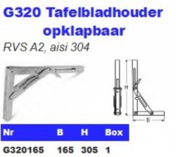 RVS Tafelbladhouders opklapbaar G320