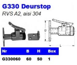RVS Deurstops G330