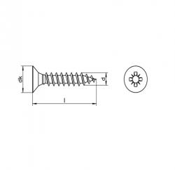 RVS Houtbouwschroeven Kruiskop Art. 8200