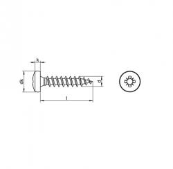 RVS Houtbouwschroeven panhead kruiskop Art. 8210