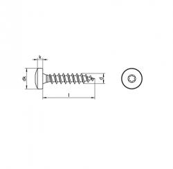 RVS Houtbouwschroeven panhead torx Art. 8212
