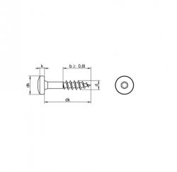 RVS Houtbouwschroeven panhead torx deeldraad Art. 8217