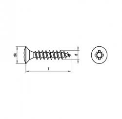 RVS Houtbouwschroeven bolverzonken kruiskop Art. 8220