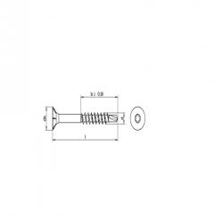 RVS Houtbouwschroeven Torx zelfborend Art.8245