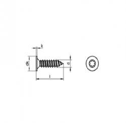 RVS Houtbouwschroeven teakdek Art.8255