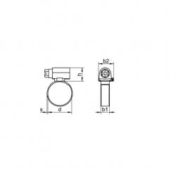 RVS Slangklemmen, Breedte 12 mm DIN 3017