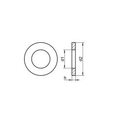 RVS Sluitringen voor cilinderkopbouten DIN 433