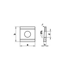 RVS Hellingplaten voor U profiel - 8º DIN 434