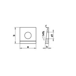 RVS Hellingplaten voor T profiel - 15º DIN 435