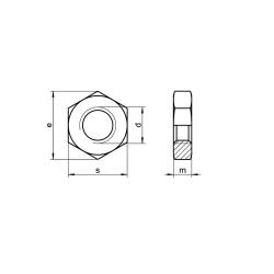 RVS Lage zeskantmoeren DIN 439 / ISO 4035