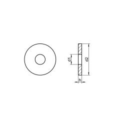 RVS Sluitringen voor houtconstructies - vierkant gat DIN 440R
