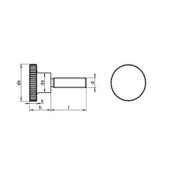 RVS Kartelschroeven hoge vorm DIN 464