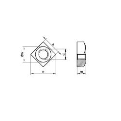 RVS vierkante moeren DIN 557