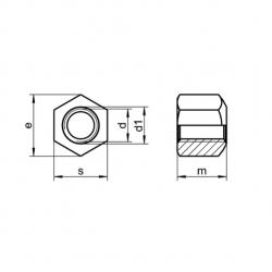RVS Zeskantmoeren 1,5xdiameter hoog DIN 6330