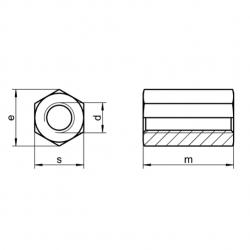 RVS Zeskantmoeren 3xdiameter hoog DIN 6334