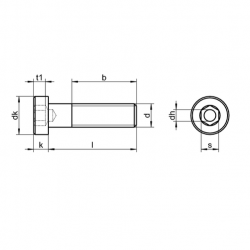 RVS Lage Cilinderkopbouten DIN 6912