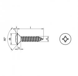 RVS Plaatschroeven bolverzonken kop DIN 7983