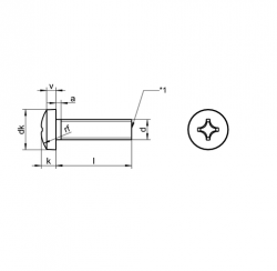 RVS Bol-cilinderkopbouten DIN 7985
