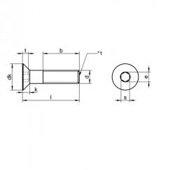 RVS Platverzonken Inbusbouten DIN 7991 / ISO 10642