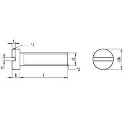 RVS Cilinderkopbouten met zaagsnede DIN 84