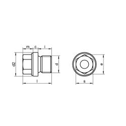 RVS Afdichtstoppen met kraag en zeskant metrisch DIN 910M