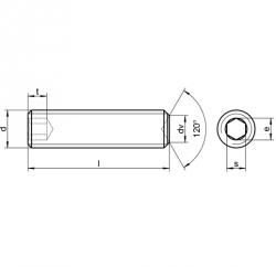 RVS Stelschroeven met binnenzeskant en kratereind DIN 916