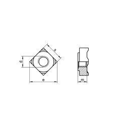 RVS Vierkante Lasmoeren DIN 928