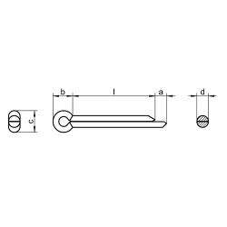 RVS Splitpennen DIN 94 / ISO 1234