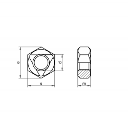 RVS Zelfborgende moeren DIN 980 / ISO 7042