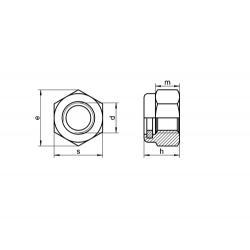 RVS Zelfborgende Zeskantmoeren DIN 982 / ISO 7040