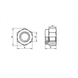 RVS Zelfborgende Zeskantmoeren DIN 985 / ISO 10511