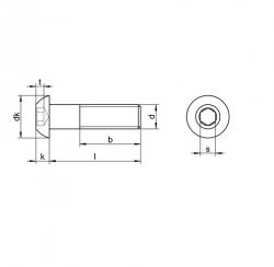 RVS Laagbolkopbouten ISO 7380
