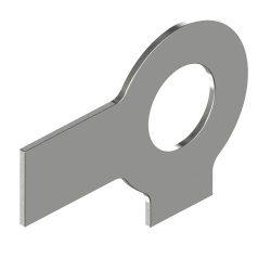 RVS Lipborgplaten met twee lippen DIN 463