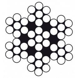 RVS Staaldraad half flexibel 7 × 7 B102