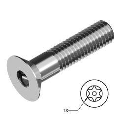 RVS Platverzonken Bouten Torx met pin Art. 8582