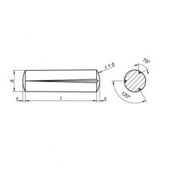 RVS Kegel kerfpennen DIN 1471 / ISO 8744