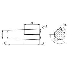 RVS Doorsteek kerfpennen DIN 1472 / ISO 8745