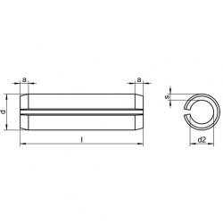 RVS Spanstiften DIN 1481 / ISO 8752