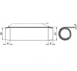 RVS Spiraalspanstiften DIN 7343 / ISO 8750